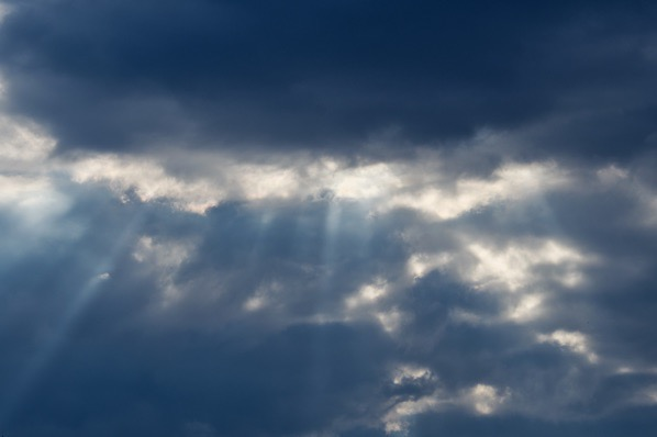 Sunlight rays and cloudy... — preview